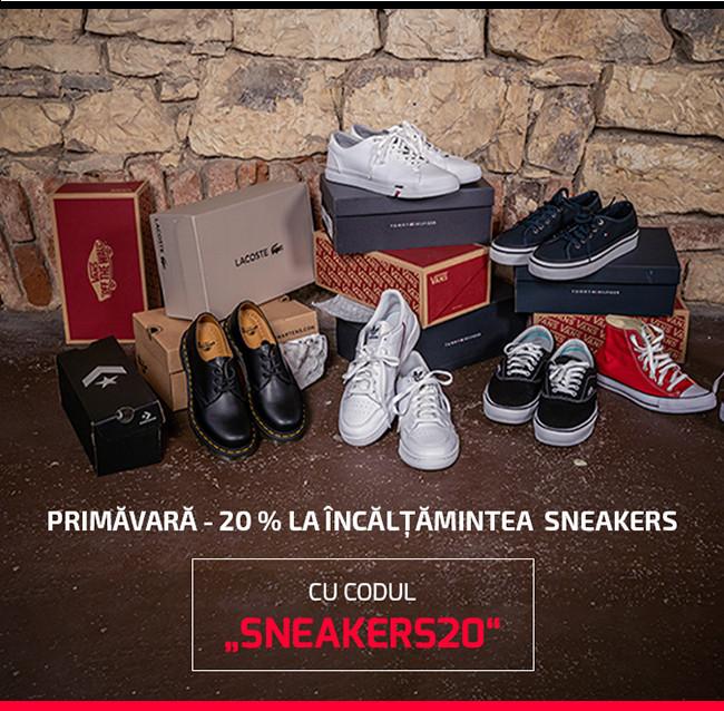 Primăvară -20 % la încălțămintea sneakers