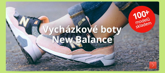 Vycházkové boty New Balance – 100+ modelů skladem