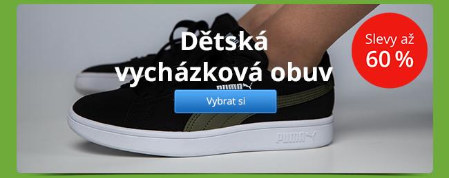 Dětská vycházková obuv – slevy až 60 %