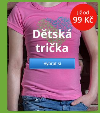Dětská trička již od 99 Kč