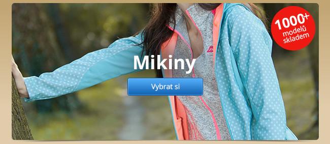 Mikiny – 1000+ modelů skladem