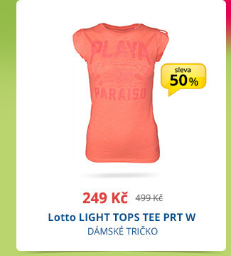 Lotto LIGHT TOPS TEE PRT W