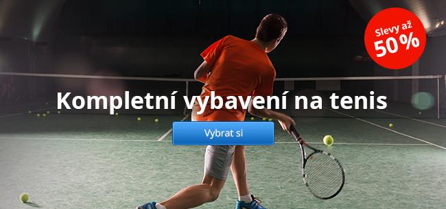 Kompletní vybavení na tenis – slevy až 50 %