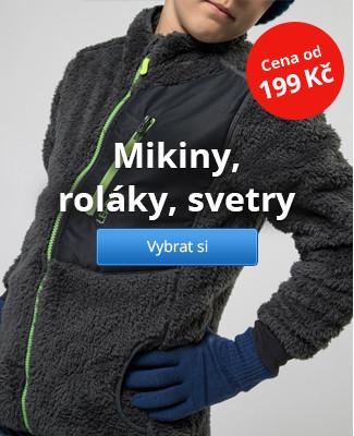 Mikiny, roláky, svetry – od 199 Kč
