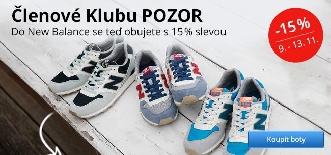 Akce pro členy Klubu – sleva 15 % na obuv New Balance
