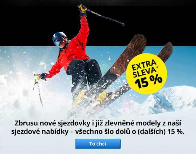 Sjezdové lyžování - extra sleva 15 %