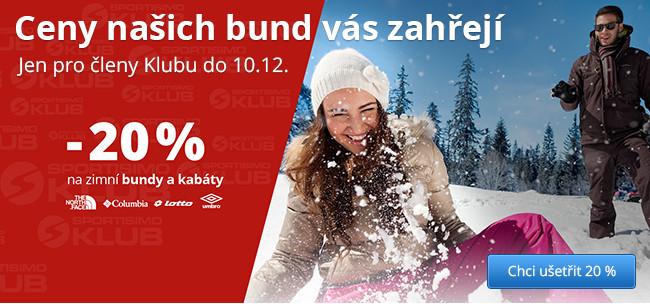 DNY KLUBU SPORTISIMO - Sleva 20 % na zimní bundy