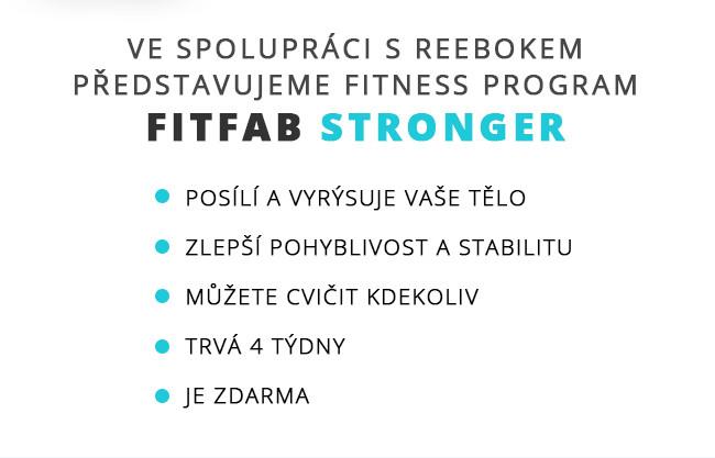 Ve spolupráci s Reebokem představujeme fitness program FITFAB Stronger