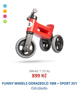 FUNNY WHEELS ODRAZEDLO 18M + SPORT 2V1