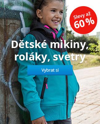 Dětské mikiny, roláky, svetry slevy až 60%