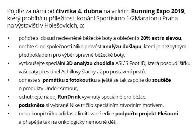 Přijďte za námi na Running Expo 2019