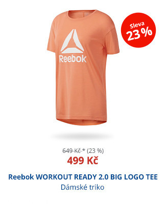 Reebok WORKOUT READY 2.0 BIG LOGO TEE