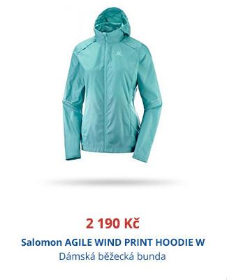 Salomon AGILE WIND PRINT HOODIE W