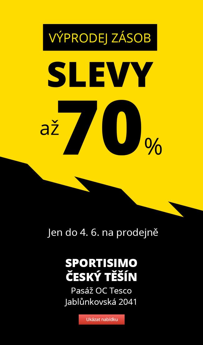 VÝPRODEJ ZÁSOB – Sportisimo Český Těšín – slevy až 70 %