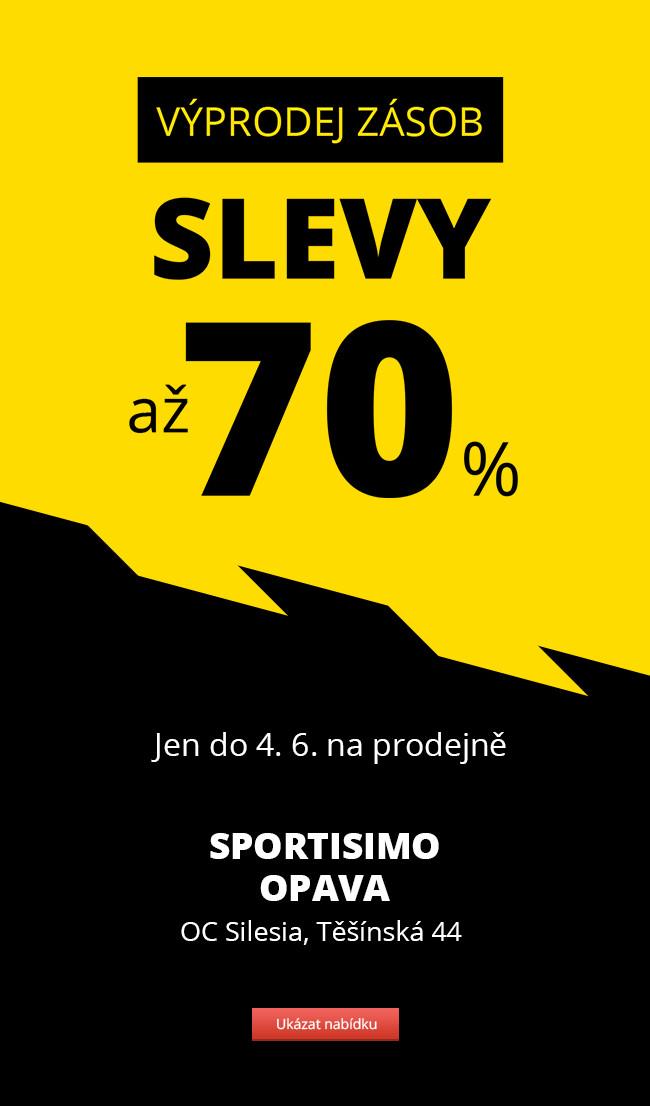 VÝPRODEJ ZÁSOB – Sportisimo Opava – slevy až 70 %