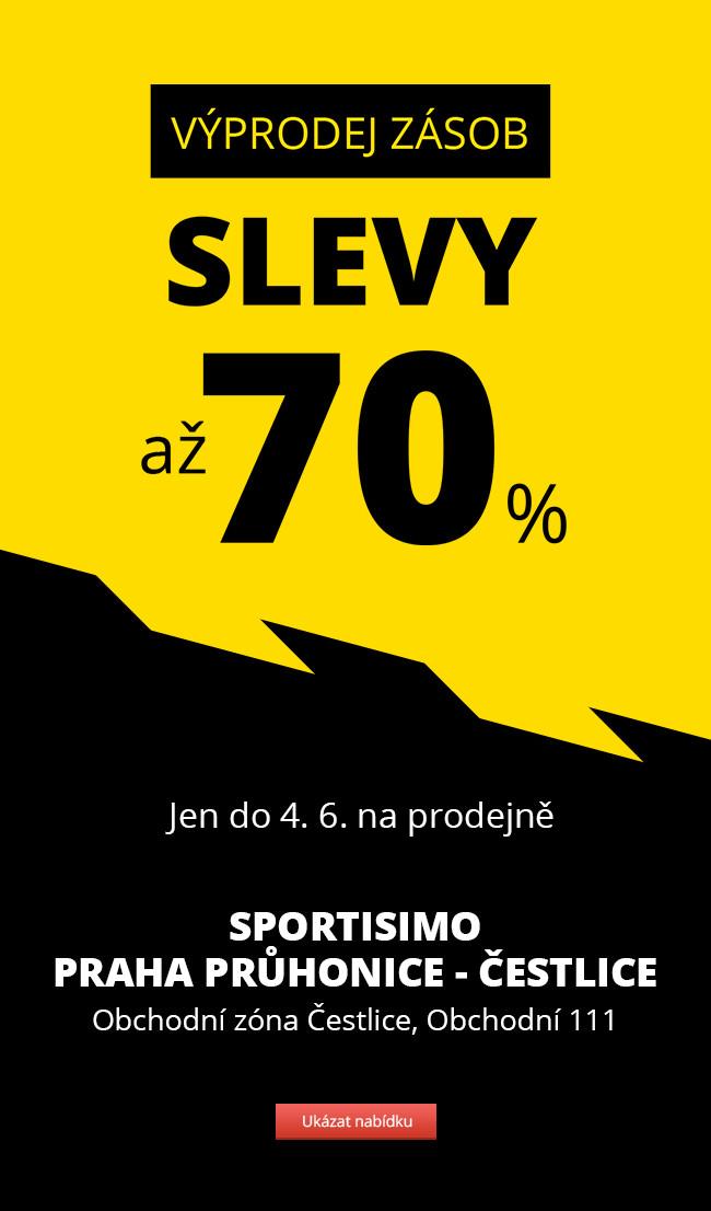 VÝPRODEJ ZÁSOB – Sportisimo Praha Průhonice – slevy až 70 %