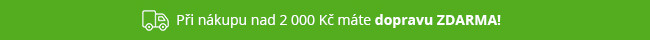 Doprava ZDARMA k objednávkám nad 2 000 Kč