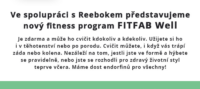Zpátky do formy s FITFAB WELL