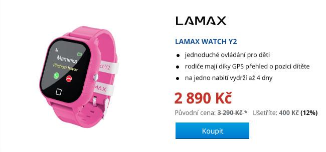 LAMAX WATCH Y2 BLACK