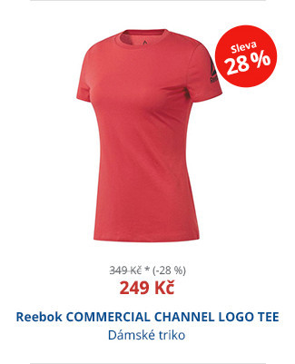 Reebok COMMERCIAL CHANNEL LOGO TEE
