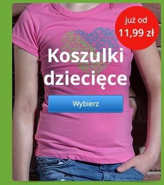 Koszulki dziecięce już od 11,99 zł