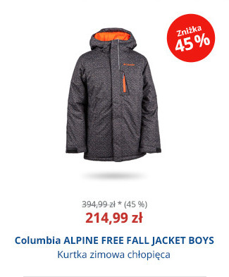 Columbia ALPINE FREE FALL JACKET BOYS