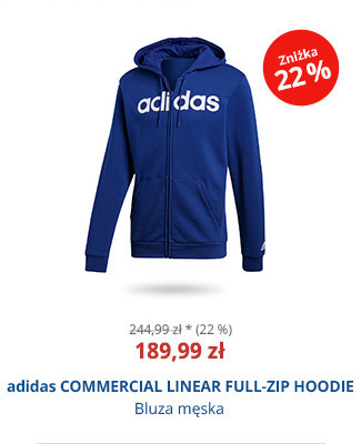 adidas COMMERCIAL LINEAR FULL-ZIP HOODIE