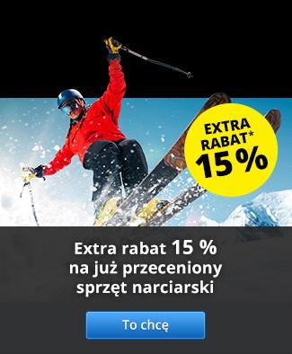 Extra rabat 15% na już przeceniony sprzęt narciarski