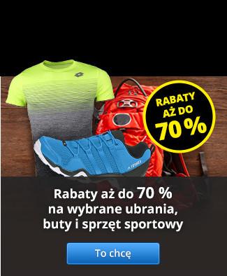 Rabaty aż do 70% na wybrane ubrania, buty i sprzęt sportowy