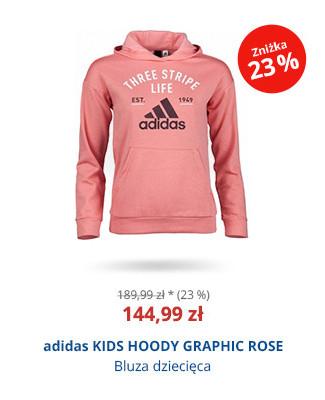 adidas KIDS HOODY GRAPHIC ROSE