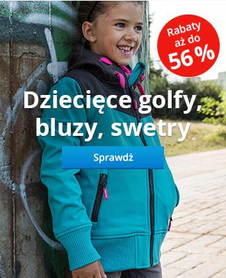Dziecięce golfy, bluzy, swetry – Rabaty aż do 56 %