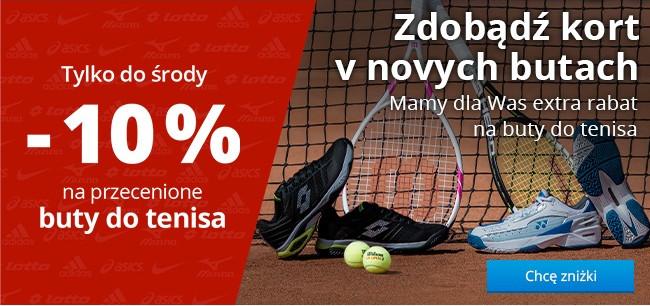 Tylko do środy -10 % na przecenione buty do tenisa