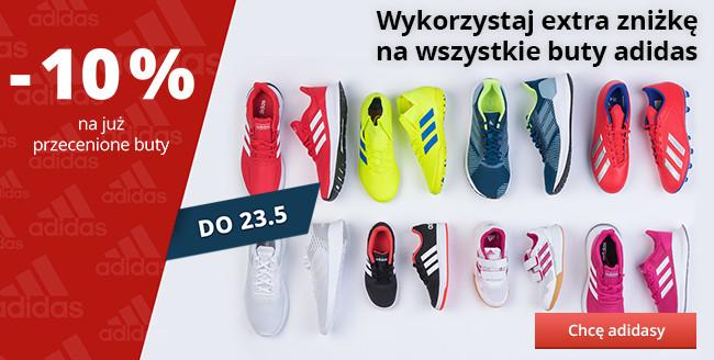 Wykorzystaj extra zniżkę na wszystkie buty adidas – do 23. 5. 2019