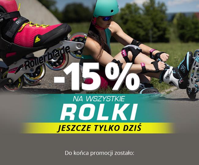 -15% na wszystkie rolki