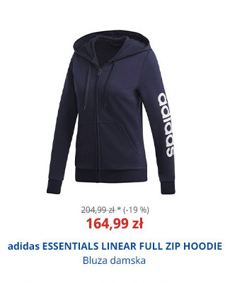 adidas ESSENTIALS LINEAR FULL ZIP HOODIE