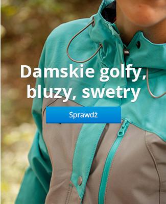 Damskie golfy, bluzy, swetry