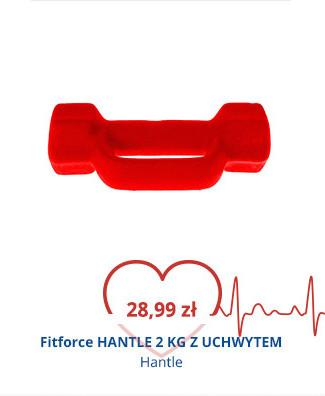 Fitforce HANTLE 2 KG Z UCHWYTEM