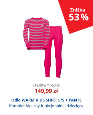 Odlo WARM KIDS SHIRT L/S + PANTS
