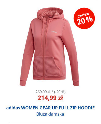 adidas WOMEN GEAR UP FULL ZIP HOODIE
