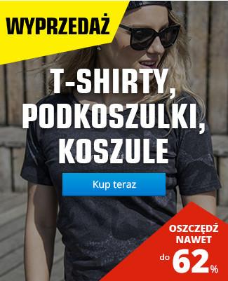 T-shirty, podkoszulki, koszule 43 %