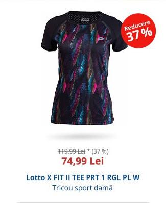 Lotto X FIT II TEE PRT 1 RGL PL W
