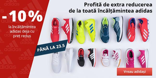 Profită de extra reducerea de la toată încălțămintea adidas