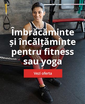Îmbrăcăminte și încălțăminte pentru fitness sau yoga