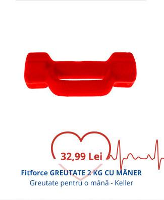 Fitforce GREUTATE 2KG CU MÂNER