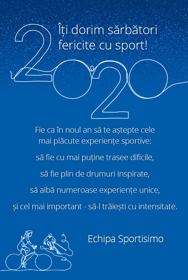 Un an 2020 fericit și cu sport