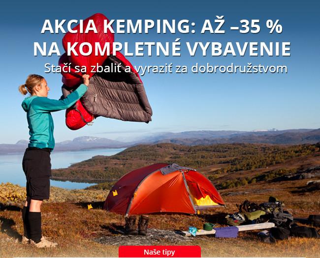 Akcia KEMPING: až –35 % na kompletné vybavenie