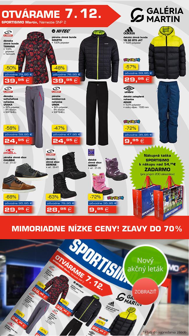 NOVÁ prodejna Sportisimo Martin. Extra slevy až 70 %!  4804333ac7e