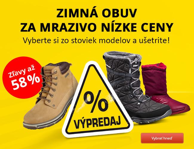 Zimná obuv za mrazivo nízke ceny