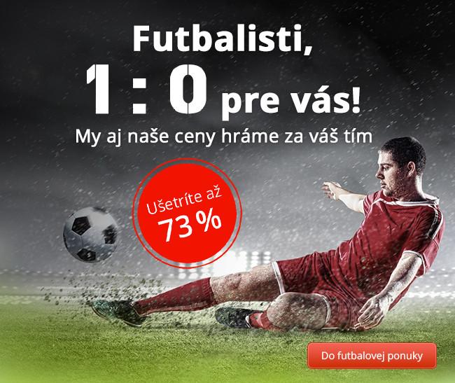 Futbalisti, 1 : 0 pre vás!