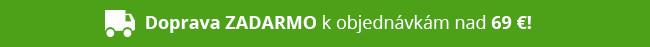 Doprava ZADARMO k objednávkam nad 69 eur